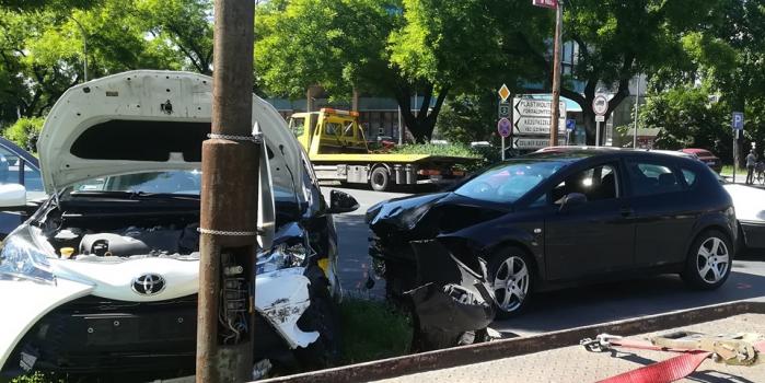Ismét baleset a Csányi körúton